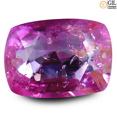 """0.87 ct """"GIL"""" CERTIFIED 100% NATURAL Pink UNHEATED CEYLON SAPPHIRE #16"""