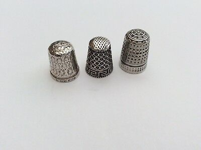 Fantastic Antique Vintage Solid Silver Thimbles Collection Job Lot,sowing Tools