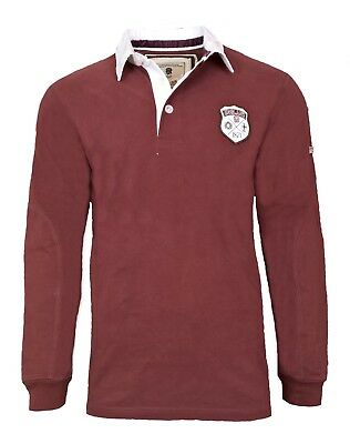 MENS M 2XL Official ENGLAND RFU 1871 LS Rugby Shirt Long Sleeve Top Polo T