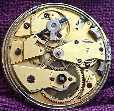 Quality  REPEATER Pocket Watch Movement circa 1830