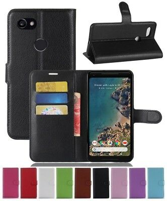 Wallet Leather Flip Card Stand Case Cover For Google Pixel 2 XL Genuine AuSeller