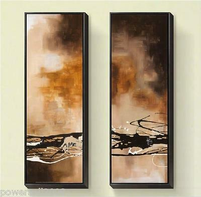 Modern Wall Decoration Framed Hand Made Parlour 120*40 CM Abstract Painting Set