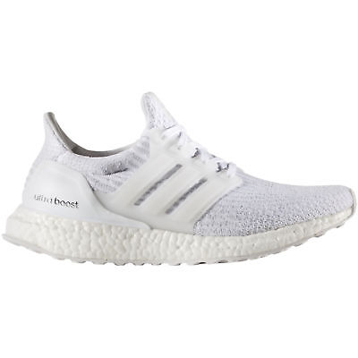 Adidas Women's Ultra Boost Shoes, size uk 8.5, color WHITE/WHITE/CRYSTAL