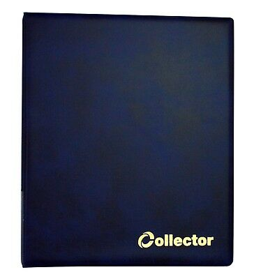 Collector Coin Album 300 Coins Mix Sizes THICK Book Folder Big Capacity BLUE /N2