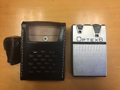 Lot Of 2 Vintage Pocket Transistor Radios Optex6 2505-S And Atlantic Solid State