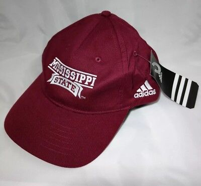 1d8d6171258030 Mississippi State Bulldogs NCAA Adjustable Authentic Adidas Strap Hat Cap 1  Size