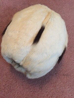 Superb Vintage Antique Early 20th Century Ermine Hand Muff Real Fur, Beautiful