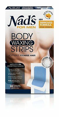 Nad's For Men Body Wax Strips 20's