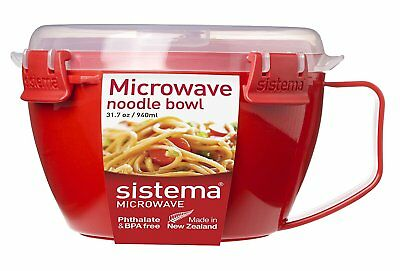 Sistema 1109 Microwave Noodle Bowl, Red, 940 ml