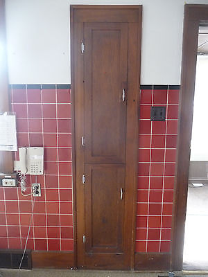 Antique Craftsman Style Built-In Pantry Cabinet - 1915 Fir Architectural Salvage