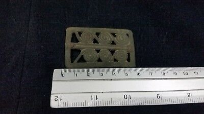 Ancient BACTRIAN GREEK  BRONZE BELT/BUCKLE C 300 BC