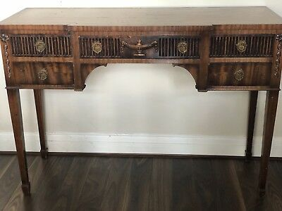 French Antique Vintage 5 Drawer Sideboard/console Table