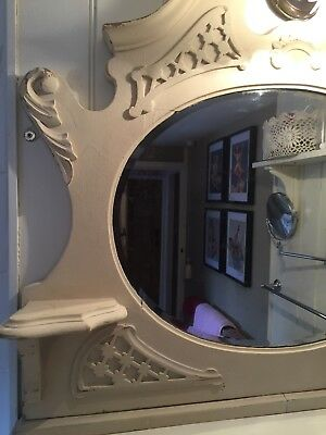 victorian pine overmantel mirror painted