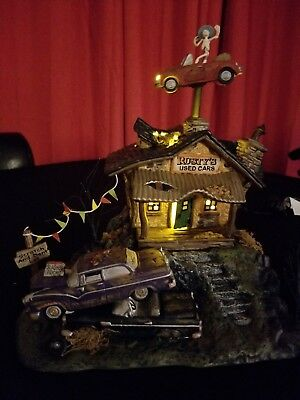 Department 56 Rusty's Used Cars New Halloween