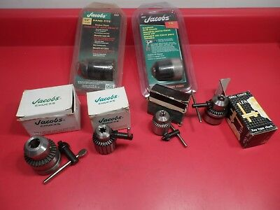 Machinist Tools: Lot of 6 Jacobs Threaded Chucks, NOS