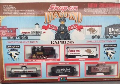 Snap On Tools Collectable 75th Anniversary HO Scale Diamond Exp Train RARE VNTG