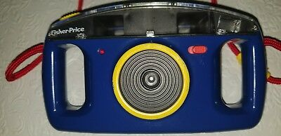 Vintage 1993 Fisher Price Plastic Kids 110 Film Camera, Blue & Yellow