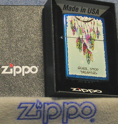 ZIPPO DREAM CATCHER Lighter NEVER STOP DREAMING  New  MINT In BOX