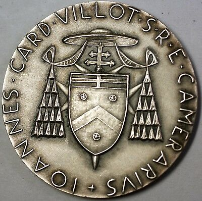 1987 Vatican City Large Silver Uncirculated Medal Crossed Keys Antique Finish