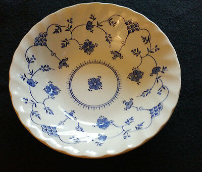 Finlandia by Myott  Fine Staffordshire Ware Soup/Cereal Bowl Blue/White  6 3/8""
