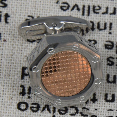 Bouton de manchette Audemars Piguet style Cufflinks royal oak silver rose gold