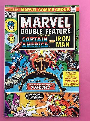 Marvel Double Feature - Captain America, Iron Man - Marvel Comics - no.2 Feb FN
