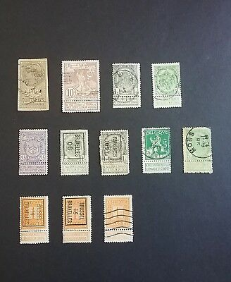 Belgium used stamps (  tablets )