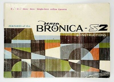 """""""Features of the Bronica S2"""" Original Instruction Manual (ca. 1965)"""