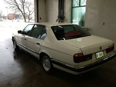 1989 BMW 7-Series Black Leather 1989 BMW 750iL 12-cyl Auto
