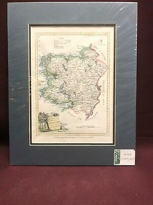 Vintage Hand Coloured map of Province of Connaught 1784 Ireland