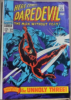 Daredevil #39 (Marvel, 1968) 1St Appearance Of Exterminator. Silver Age.