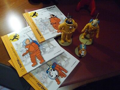 "Tintin 3 Figurines ""officiel Collection"" Scaphandre Lunaire"