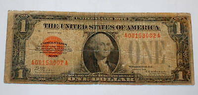 1928 RED SEAL Funnyback UNITED STATES Note $1 One Dollar SERIAL # 00153002