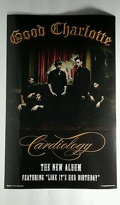 GOOD CHARLOTTE CARDIOLOGY DOUBLE SIDED BAND PROMO 11x17 MOVIE POSTER