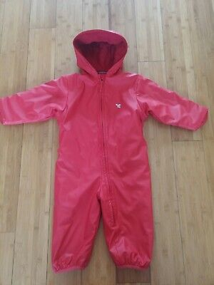 Girls/boys 100%waterproof all-in-one by Muddy Puddles 18-24 months
