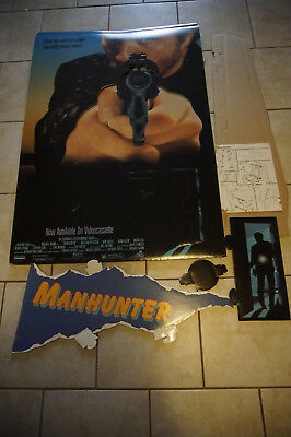 Manhunter cult movie Michael Mann promotional standee stand up Peterson CSI 1986