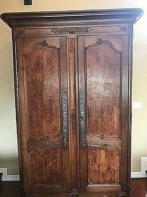 Beautiful Antique 18th C Large French Country Armoire Wardrobe Cabinet