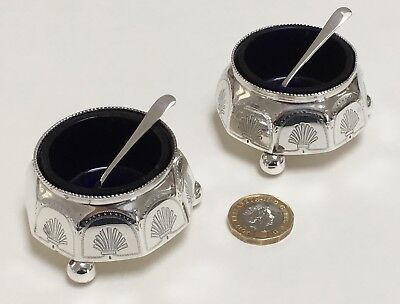 A Pair of Arts & Crafts Sterling Silver Salts by Hilliard & Thomason, 1888