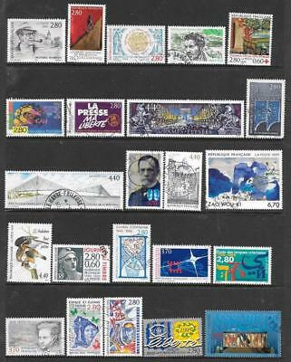 FRANCE - 23 x Used Commemoratives - 1994/95 Period