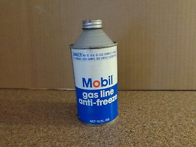 Vintage Mobil Gas Line Anti-freeze Oil Can Advertising Mobil Sign Pegasus~ Full