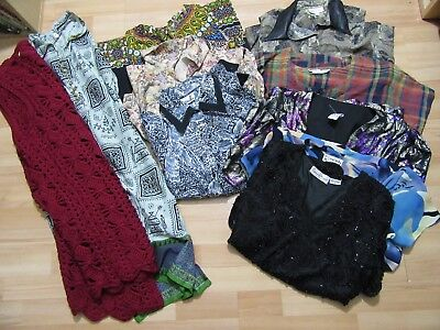 Lovely Job Lot x 12 Vintage Shirts T Shirts Blouse Wholesale Festival Summer