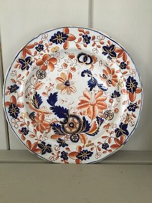 """Oriental Japanese Porcelain Plate Hand Painted With Flowers  6.5"""""""