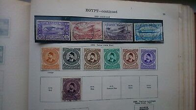 Egypt Egyptian ideal album pages high cat up to 1951 pyramids 1933 air mail