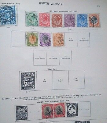 South Africa ideal album pages high cat QV to KGV1 pairs RSA SWA swaziland