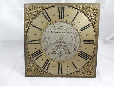Joseph Farnworth Long Case Clock Brass / Face / Dial with Movement & Bell