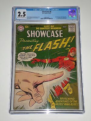 Showcase #8 (1957) CGC Graded 2.5 2nd Silver Age Flash, 1st Captain Cold