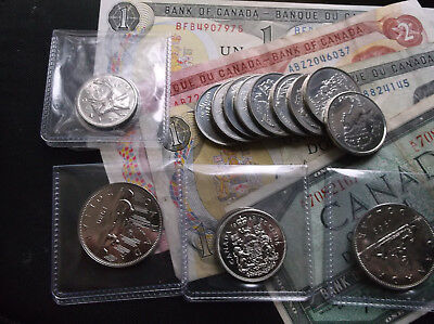 Canada Coins and Paper Money Lot