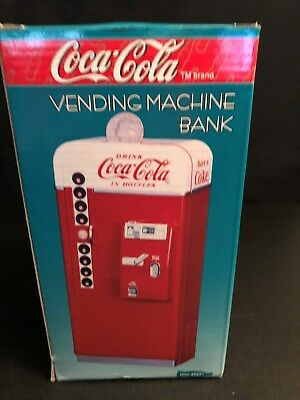 Vintage 1995 Coca-Cola Diecast Vending Machine Bank..New In Box