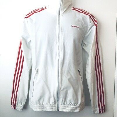 c73e08570543 Adidas Originals Beckenbauer Windbreaker Modern Track Top Jacket Red White  Small