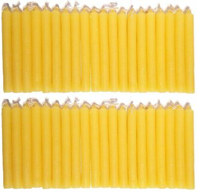 """LOT OF 40 Yellow Colors Chime Spell Candles Mini 4"""" Pagan Wicca Altar Ritual"""